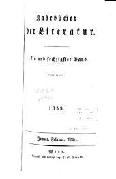 Jahrbücher der Literatur: Bände 61-62