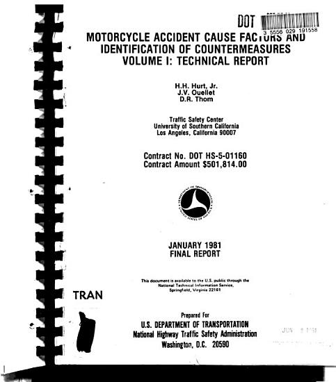 Motorcycle Accident Cause Factors and Identification of Countermeasures PDF