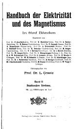 Handbuch der Elektrizität u. des Magnetismus: Band 2