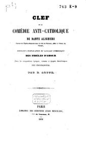 Clef de la Comédie anti-catholique de Dante Alighieri