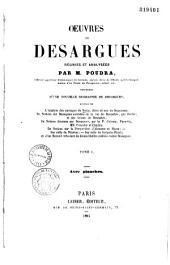 Oeuvres de Desargues: réunies et analysées, Volume2