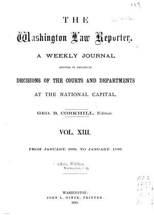 The Washington Law Reporter PDF