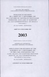 Application for Revision of the Judgment of 11 September 1992 in the Case concerning the Land, Island and Maritime Frontier Dispute ,; Judgment of 18 December 2003