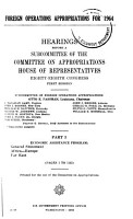 Foreign Operations Appropriations for 1964 PDF