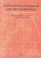 Institutions  Livelihoods  and the Environment PDF
