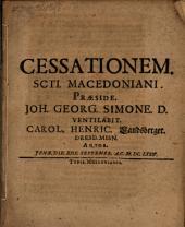 Disp. de cessatione SCti. Macedoniani