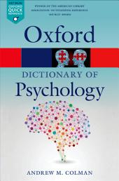 A Dictionary of Psychology: Edition 4