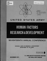 United States Army Human Factors Research   Development     Annual Conference PDF