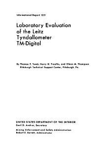 Laboratory Evaluation of the Leitz Tyndallometer TM Digital PDF