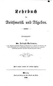 Lehrbuch der Arithmetik u. Algebra