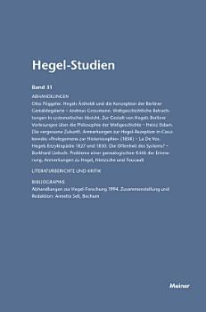 Hegel Studien   Hegel Studien Band 31 PDF