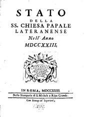 Lo stato della ss. chiesa papale Lateran. nell'anno 1723