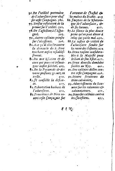Plainte apologetique au Roy     de France pour la compagnie de Jesus