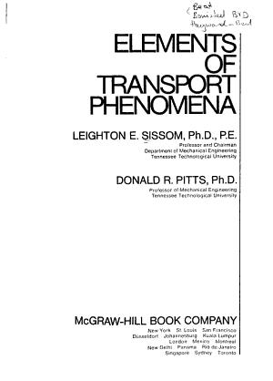 Elements of Transport Phenomena PDF