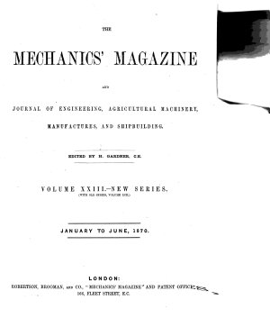 Mechanics magazine PDF