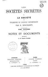 Les sociétés secrètes et la société: introduction sur l'action des sociétés secrètes au XIXe siècle