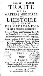 Traité de la matière médicale, ... de M. Pitton de Tournefort, mis au jour par M. Besnier