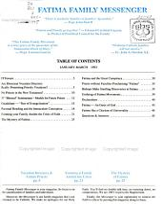 Fatima Family Messenger PDF
