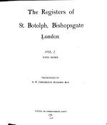 The Registers of St. Botolph, Bishopsgate, London