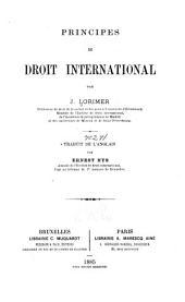 Principes de droit international