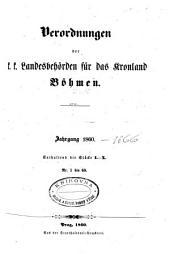 Verordnungen der k.k. Landesbeho rden fu r das Kronland Bo hmen