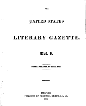 The United States Literary Gazette