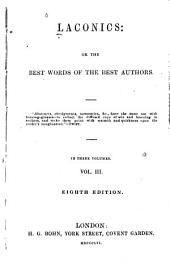 Laconics: or, The best words of the best authors