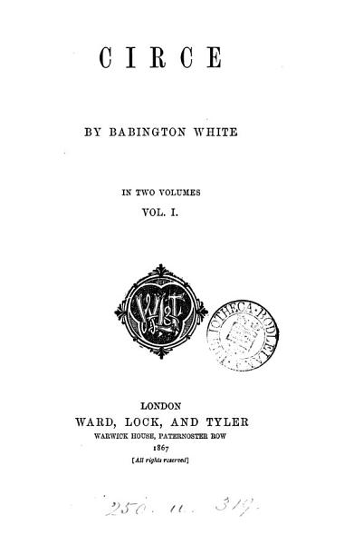 Circe, by Babington White