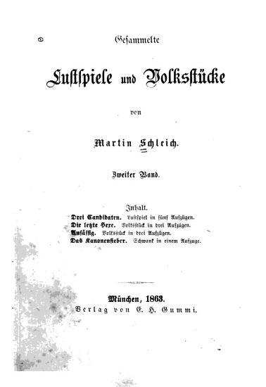 Gesammelte lustspiele und volksst  cke PDF