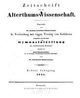 Zeitschrift f  r die Alterthumswissenschaft PDF