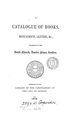 A Catalogue of Books  Manuscripts  Letters   c PDF