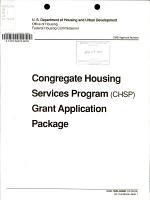 Congregate Housing Services Program (CHSP) Grant Application Package