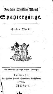 Joachim Christian Blums Spatziergänge: I. II., Teile 1-2