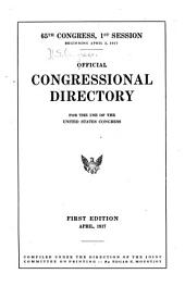 Official Congressional Directory: Volume 65, Issue 1, Part 1