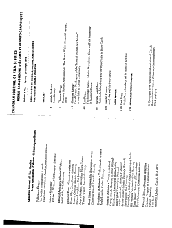 Canadian Journal of Film Studies PDF