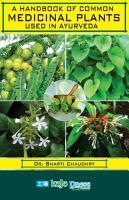 A Handbook of Common Medicinal Plants Used in Ayurveda PDF
