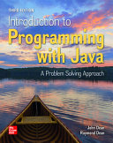 Loose Leaf for Introduction to Programming with Java  A Problem Solving Approach PDF