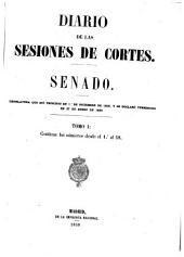 Diario de las sesiones de Cortes: Volumen 1