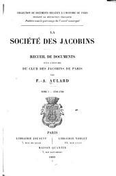 La société des Jacobins: 1789-1790