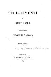 Schiarimenti e rettifiche del generale Alfonso La Marmora