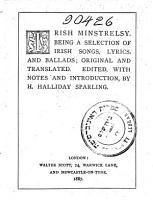 Irish Ministrelsy PDF