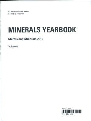 Minerals Yearbook Metals and Minerals 2010 Volume I PDF