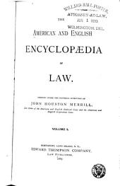 The American and English Encyclopedia of Law: Volume 1