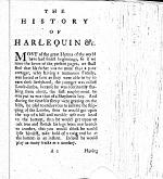The History and Comical Adventures of Harlequin and His Pleasing Companion, Columbine
