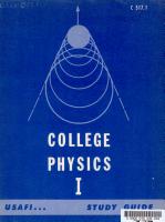 College Physics I PDF