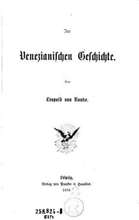Zur venezianischen Geschichte PDF