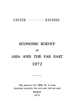 Economic Survey of Asia and the Far East PDF