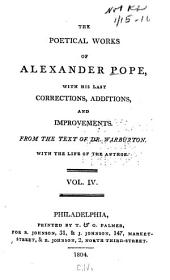 The poetical works of Alexander Pope: with his last corrections, additions and improvements, Volume 4