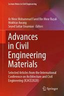 Advances in Civil Engineering Materials