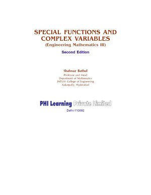 SPECIAL FUNCTIONS AND COMPLEX VARIABLES PDF